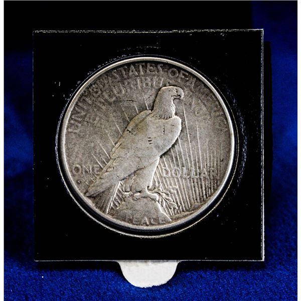 1927S SEMI-KEY USA SILVER PEACE DOLLAR.