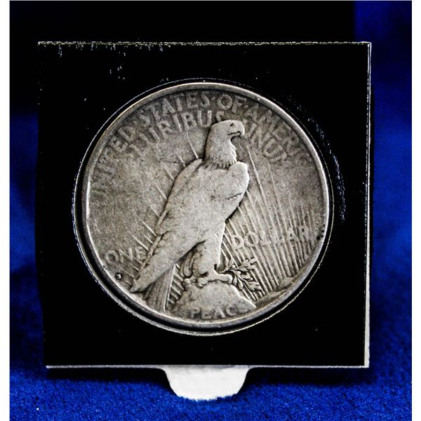 1935S USA SILVER PEACE DOLLAR. LAST YEAR OF ISSUE.