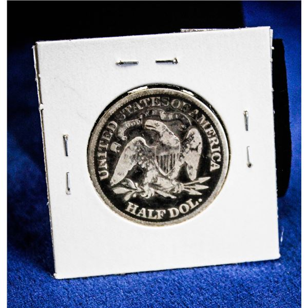 1876 USA SEATED LIBERTY SILVER 50 CENT COIN