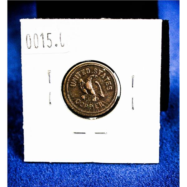 "1863 USA CIVIL WAR 1 CENT ""FOR PUBLIC ACCOMODATIO"