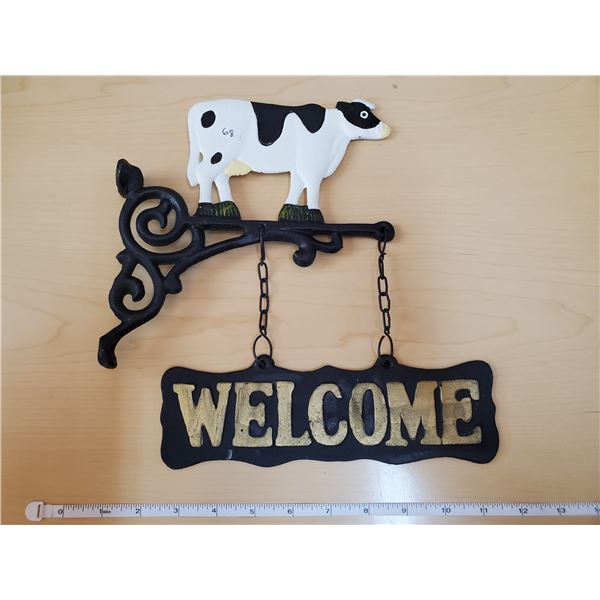 IRON COW WELCOME SIGN