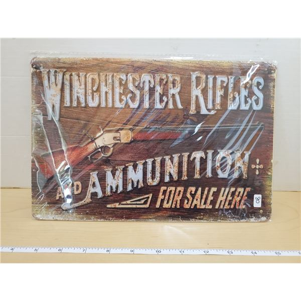 TIN SIGN 'WINCHESTER'