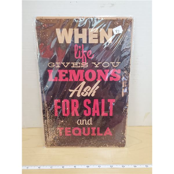 TIN SIGN 'TEQUILA'
