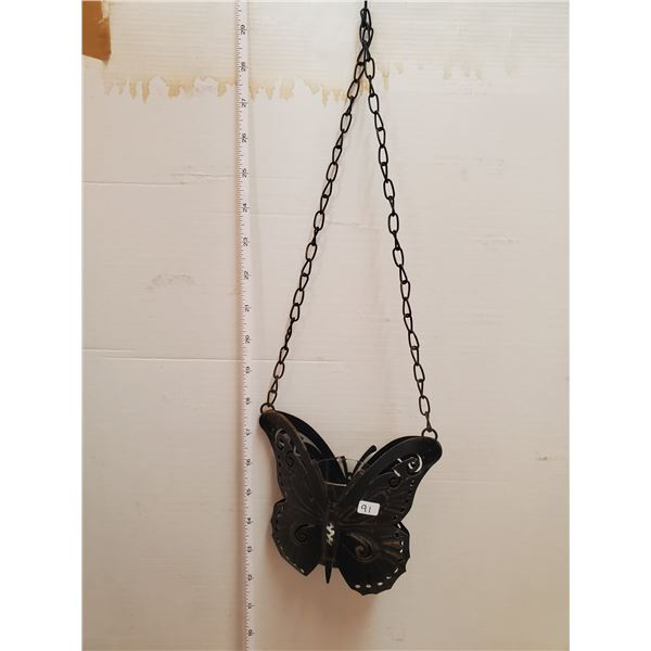 METAL BUTTERFLY HANGING CANDLE HOLDER