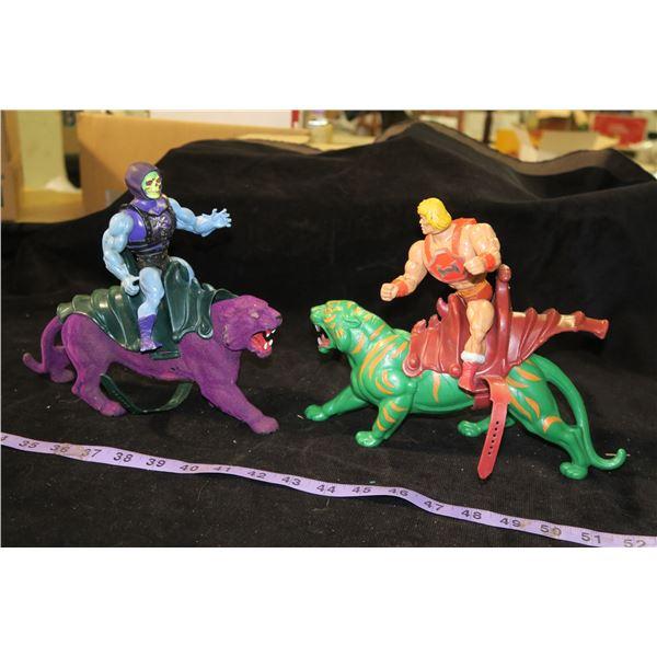 Vintage He-Man & Skeletor Toys