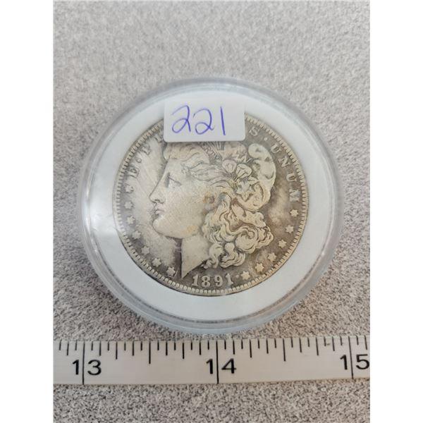 REPRO Morgan Dollar - 1891