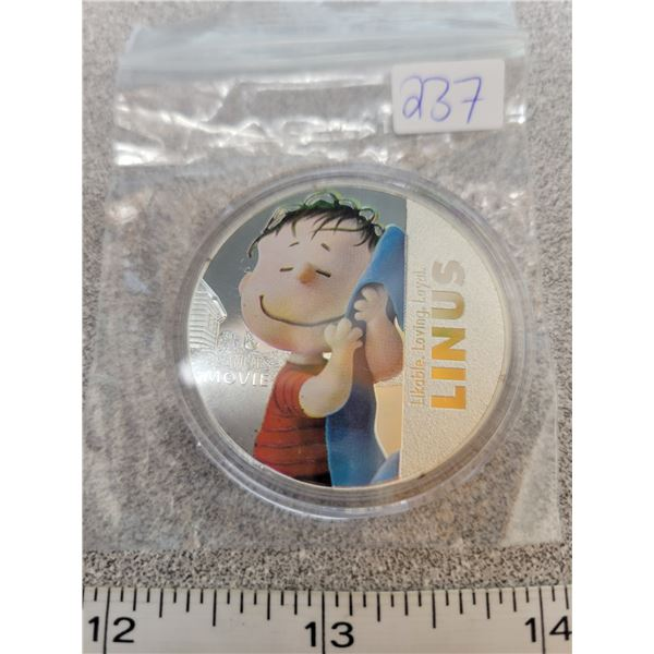 Peanut's movie coin - Linus