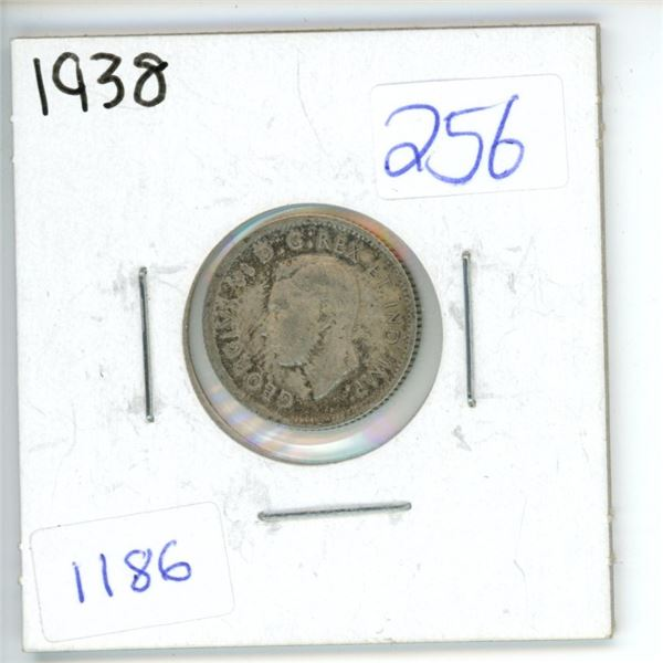 1938 Canadian 10 cent Dime
