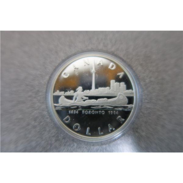 1984 Canadian Nickel Dollar with Case