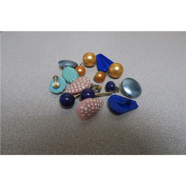 Plastic Earings 6 sets