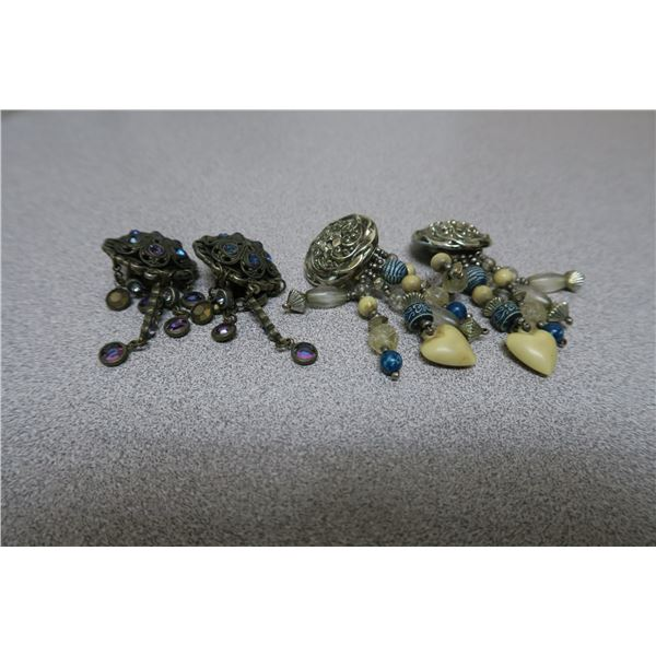 2 Sets of Jeweled/Beaded Earings