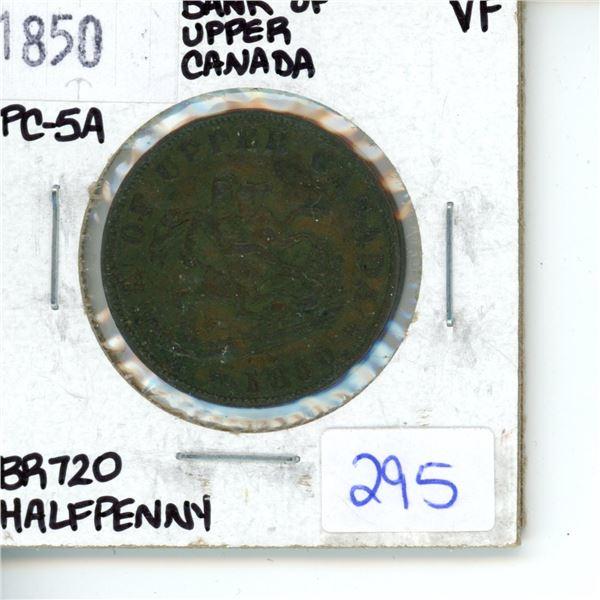 1850 half penny - Bank of upper Canada