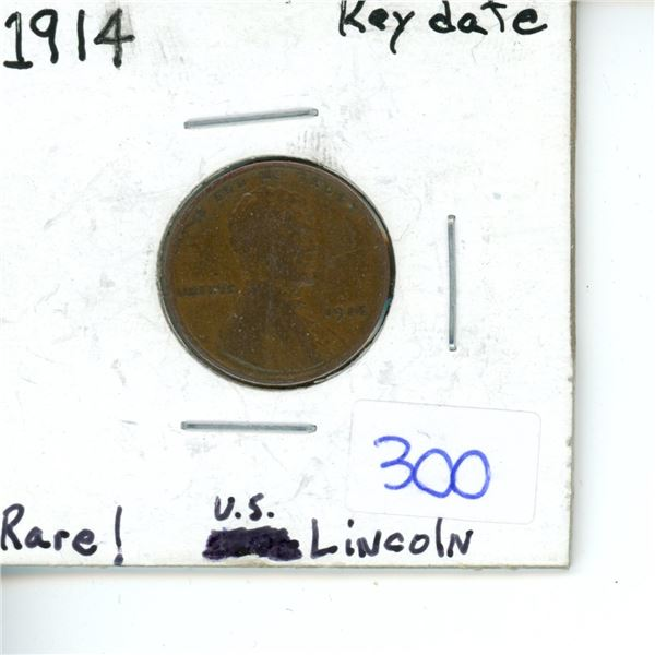 1914 key date rare US Lincoln penny