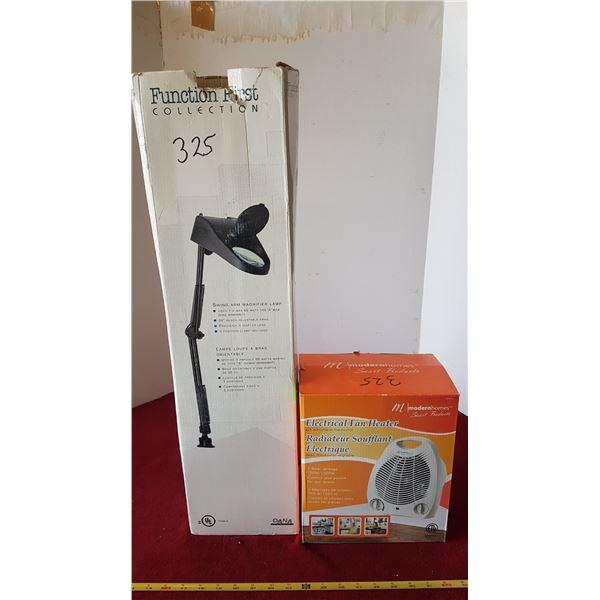 Electric Heater & Lamp