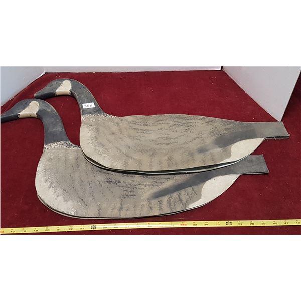Early Wooden Goose Decoys Hardboard