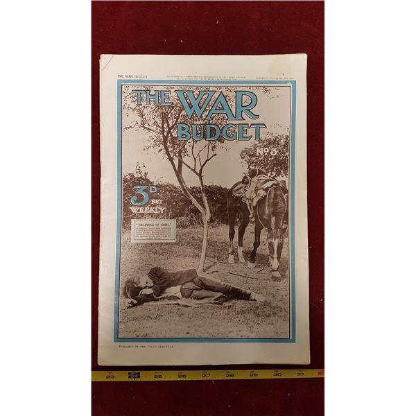 1914 War Budget Magazine