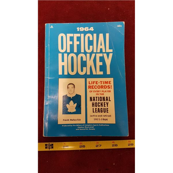 1964 Official Hockey Booklet