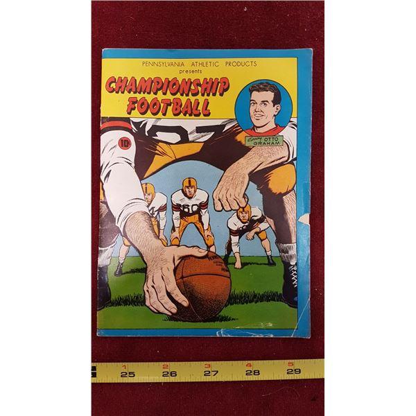 1956 Championship Football Comic