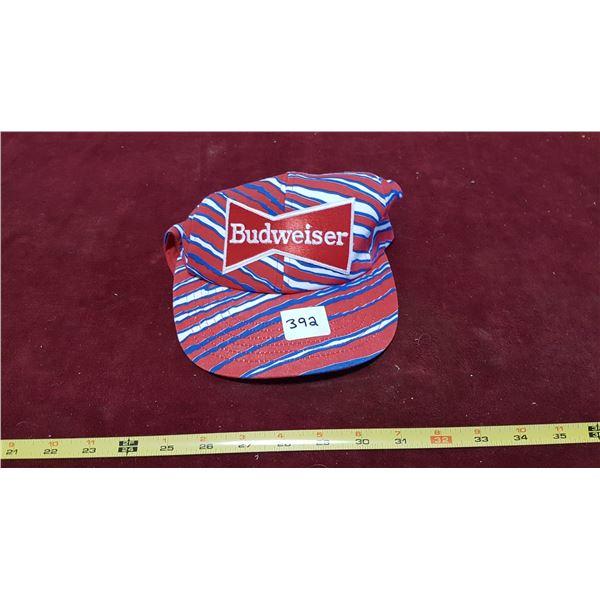 Budweiser Patriotic Stripes Snap Back Baseball Cap