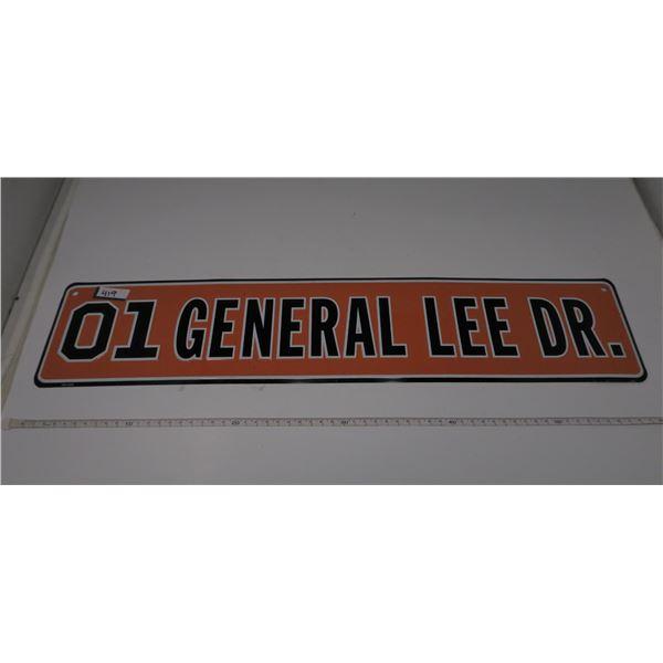 "GENERAL LEE STREET SIGN 24X5"""