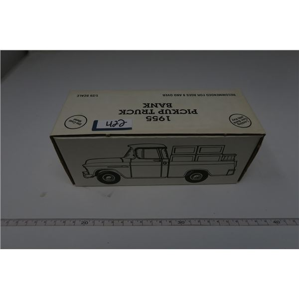 1:25 1955 CHEVY PICKUP COIN BACK