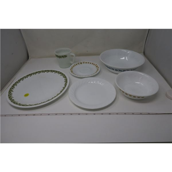 6 Piece Assorted Corelle Dishes/Bowls