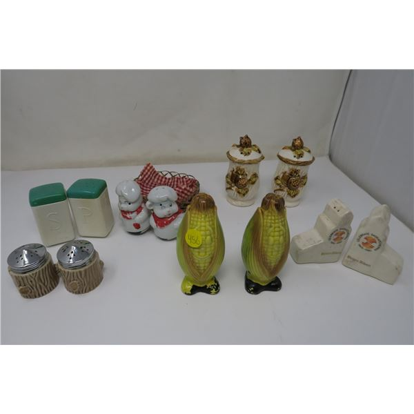 6 Sets of Salt/Perpper Shakers
