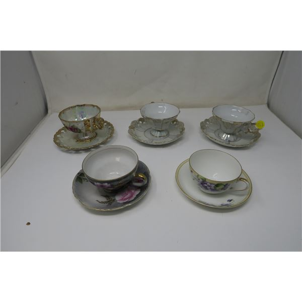 5 Teacups and Plate sets - Made in Japan