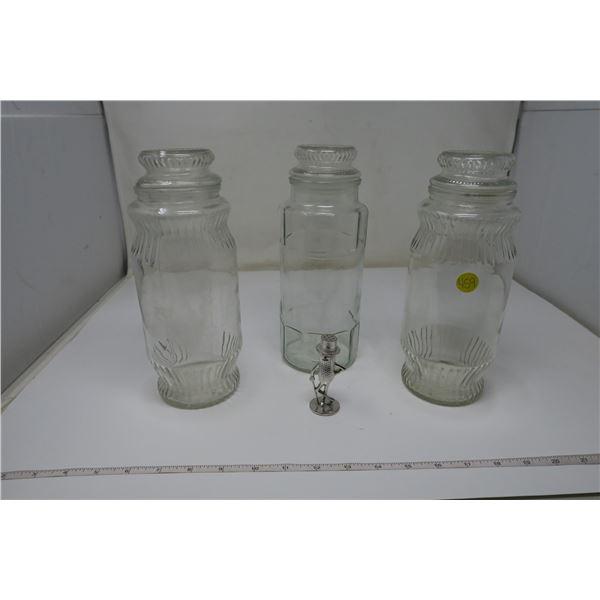 Planter's Peanuts Jars X 3 With ornamental Salt Shaker