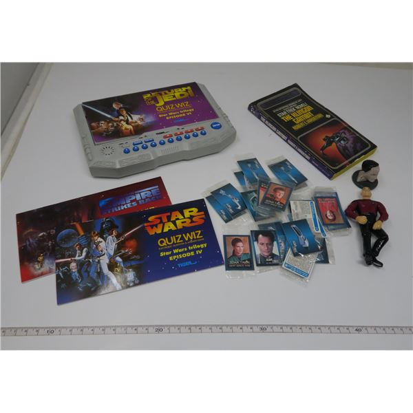 Star Wars Trivia Game(Works) and Star Trek toys and mini cards