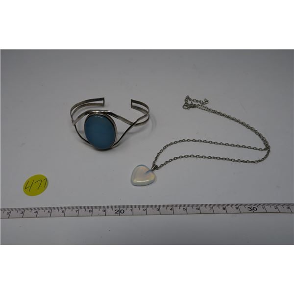 .925 silver Moonstone Bracelet and Necklace