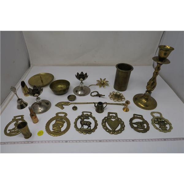 22 Piece Various Brass Lot