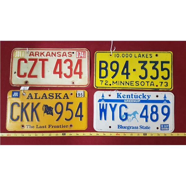 Alaska , Kentucky , Minnesota ,Arkansas Plates