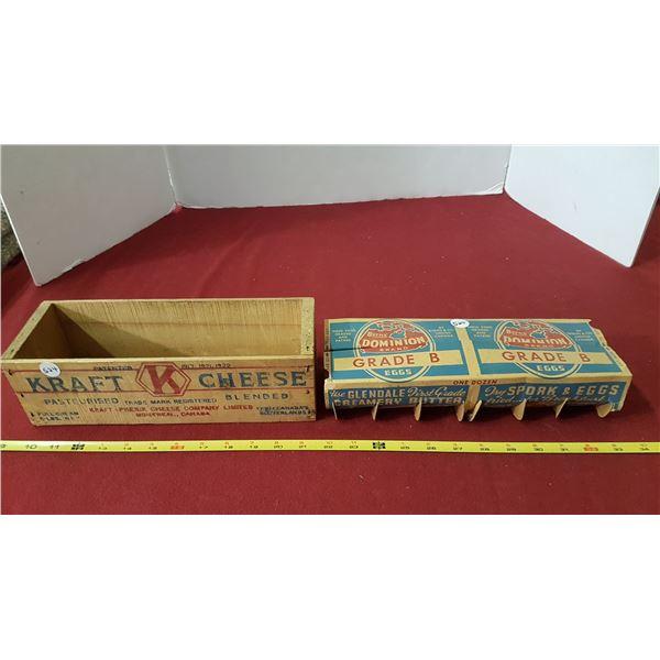 Dominion Egg Carton & Wood Craft Cheese Box