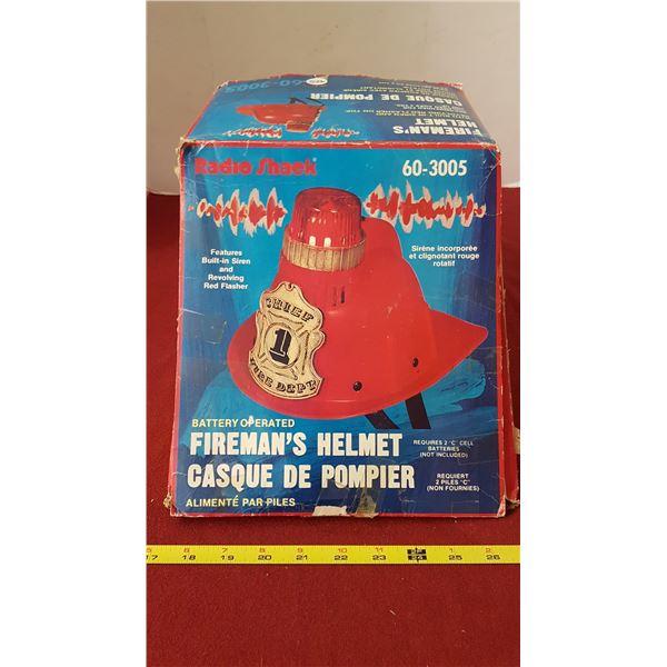 1970's Radio Shack Fire Chief Helmet In Box