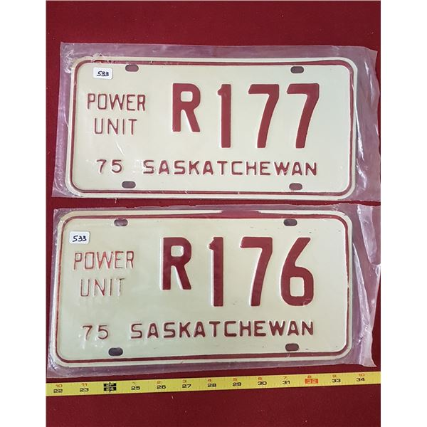 1975 Power Unit Plates R176 & R177