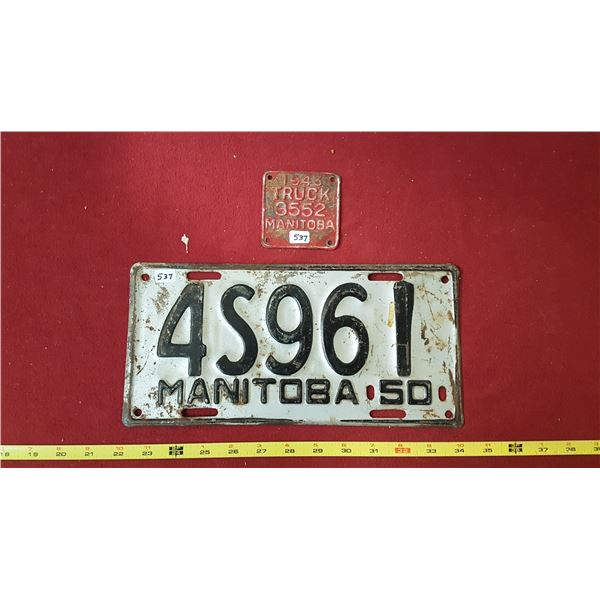 Manitoba 1950 & 1943 Truck Tab with Licence Plates