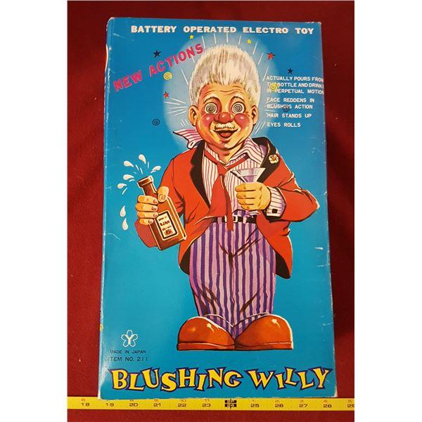 NOS 1960's Blushing Willy & Box