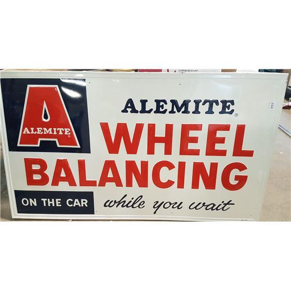 "Alemite Wheel-Balancing Sign 553/4""x32"""