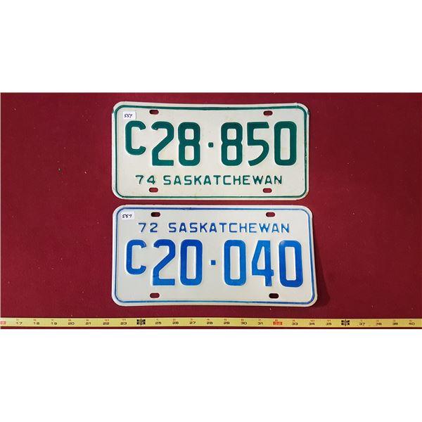 1972 C20.040, 1974 C28.850 Licence Plates