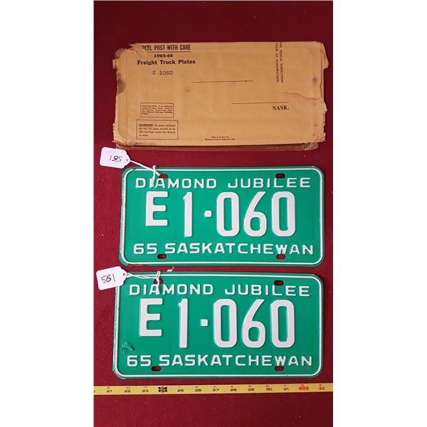 1965 FreightLiner Licence Plate Pair