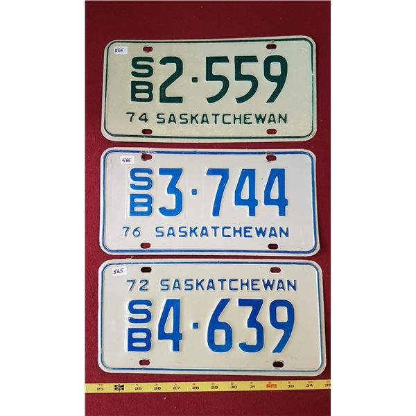 1972, 1974, 1976 SK School Bus Plates
