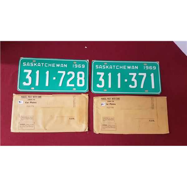 2 Pair of NOS SK Licence Plates