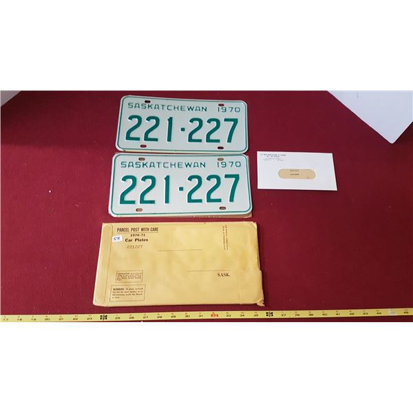 1970 NOS Licence Plates with Key Tags