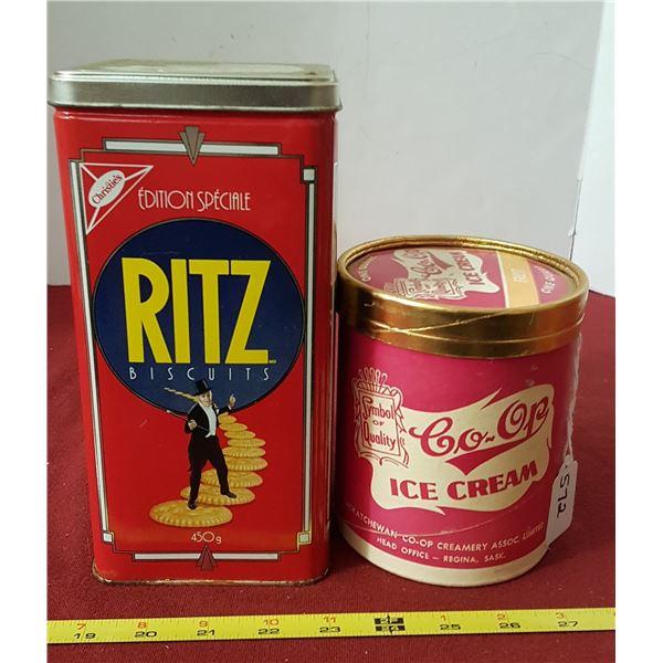 Ritz Cracker & Co-op Ice Cream Containers