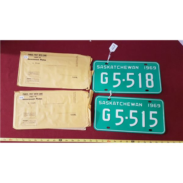 1969 SK Government Licence Plates NOS