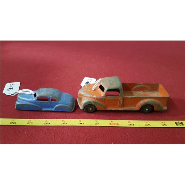London Toy Pick-up Truck No.52 & Coupe #14