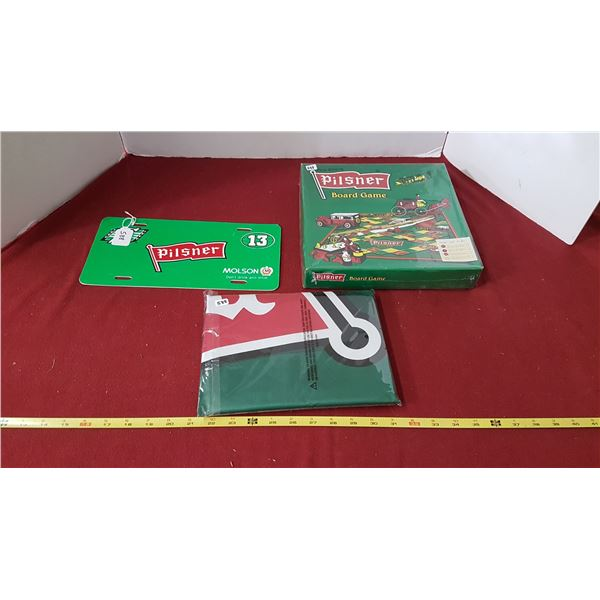 Roughrider Board Game, Licence Plate & Flag