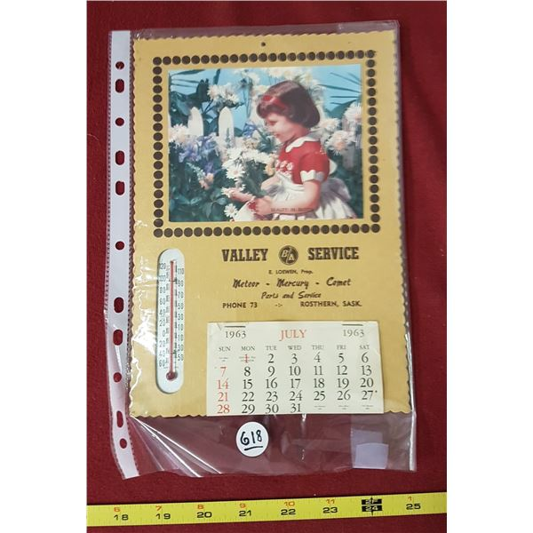 1963 Valley Service Calendar B/A