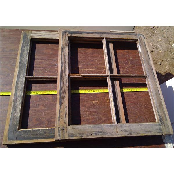 2 Wood Window Frames